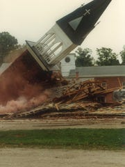 During the razing of the St Ann's Church in 1983, the last piece of the St. Ann's church building to come down was the steeple.