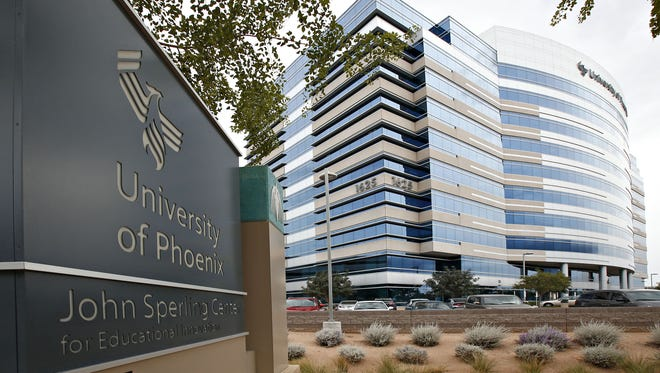 The main campus building of University of Phoenix at 1625 W. Fountainhead Parkway in Tempe.