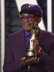 Spike Lee arrives at the Vanity Fair Oscar Party on