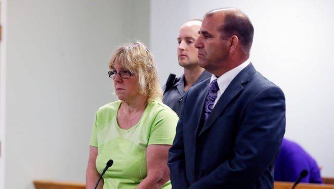 Joyce Mitchell is arraigned in City Court on Friday in Plattsburgh. Mitchell is accused of helping two convicted killers escape from Clinton Correctional Facility in Dannemora.