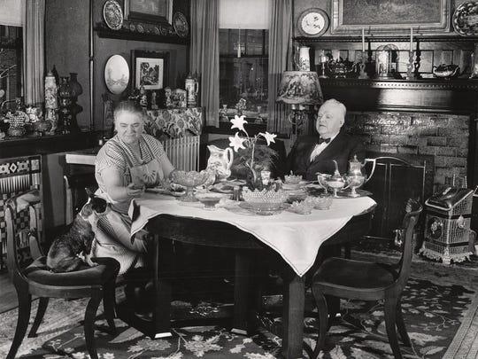 Mayor Rollin H. Bunch, mayor of Muncie, at home, circa