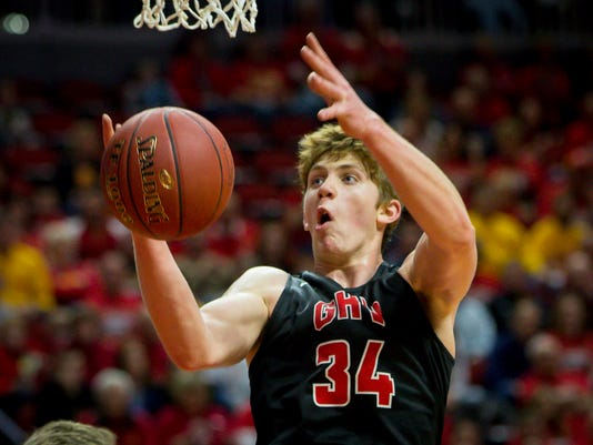 IA Boys Basketball 2A Garner-Hayfield-Ventura Kuemper Catholic
