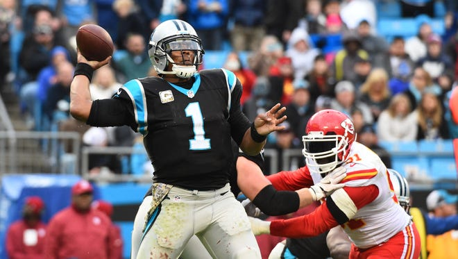 Cam Newton passed for one touchdown and ran for another last week vs. the Chiefs, but he has passed for less than 265 yards in all but two games this season.
