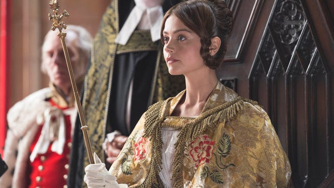 A young Queen Victoria (Jenna Coleman) takes her place in British history in Masterpiece's 'Victoria,' coming to Amazon on Aug. 29.