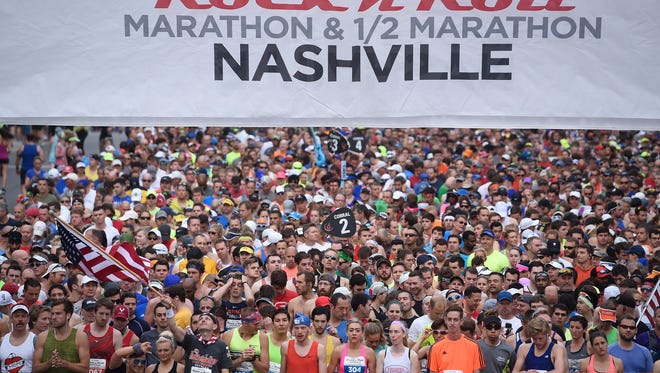 2017 St. Jude Rock 'N' Roll Nashville Marathon on Saturday, April 29, 2017.