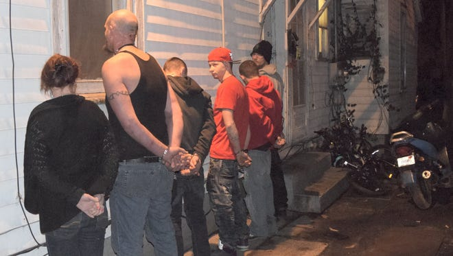 The Wayne County Drug Task Force arrested eight individuals during a raid on a South 16th Street home Wednesday evening.