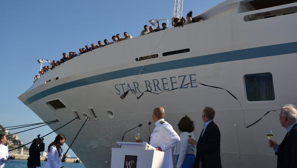 Star Breeze godmother Wendy Perrin, Windstar CEO Hans