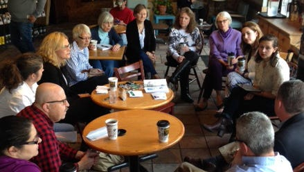 The CJ invited representatives from two local nonprofits to speak about alcohol addiction at Heine Brothers Coffee in the Douglass Loop.