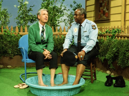 "The film ""Won't You Be My Neighbor?"" revisits a landmark moment with Fred Rogers (left) and François Scarborough Clemmons."