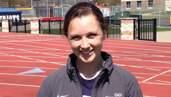 Megan Wilson said it's been kind of 'surreal' to be back with Livonia Franklin's girls track and field team — this time as coach.
