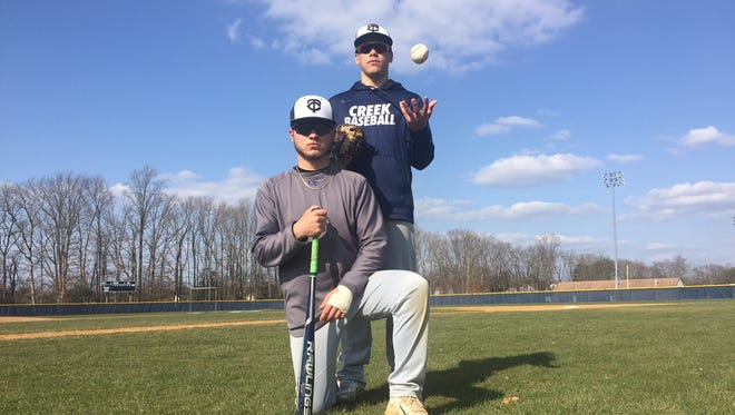 Timber Creek seniors Anthony DiMartino, top, and Jared Weaver have helped the Chargers get off to a strong start this season.
