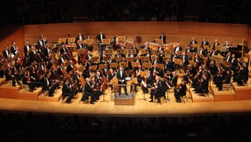 Ludovic Morlot and the Boston Symphony Orchestra on tour at Walt Disney Hall, LA.