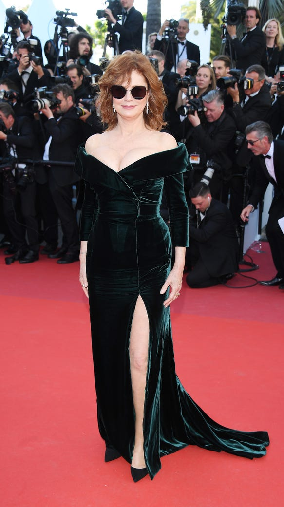 Susan Sarandon Is Queen Of The Cannes Red Carpet In