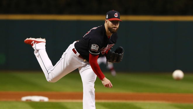 Corey Kluber struck out eight batters in the first three innings.