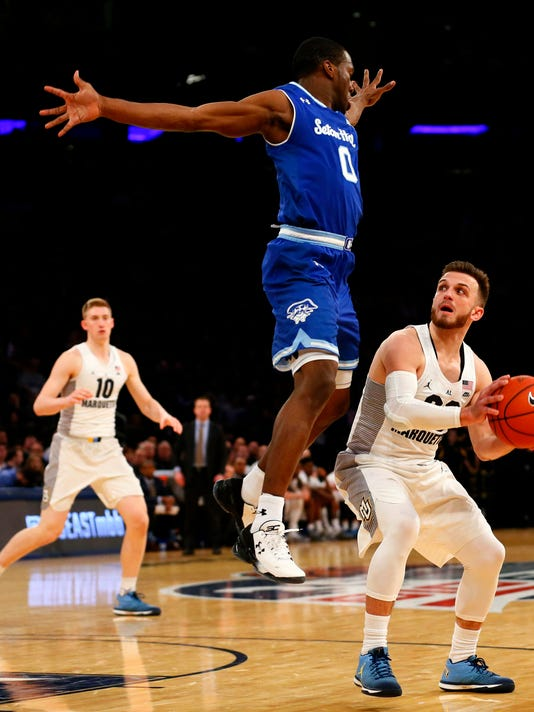 NCAA Basketball: Big East Conference Tournament-Seton Hall vs Marquette