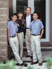 The Wu family. Sean Wu, who died in April, is on the left.
