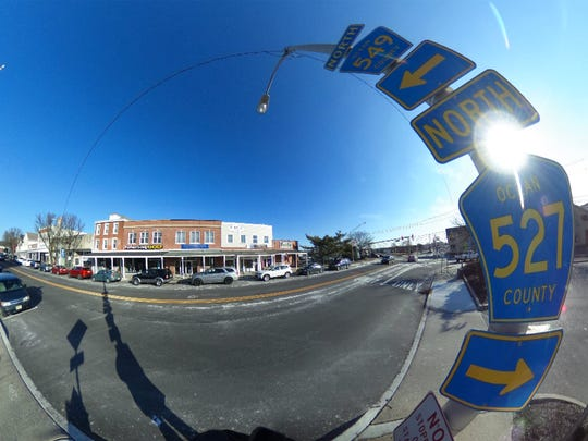 Main Streets is shown in downtown Toms River in this flatened 360 degree image Thursday, February 8, 2018.