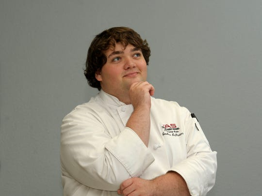Josh LaPraim of Exeter..  Monday during the Tulare Adult School Culinary Arts program.
