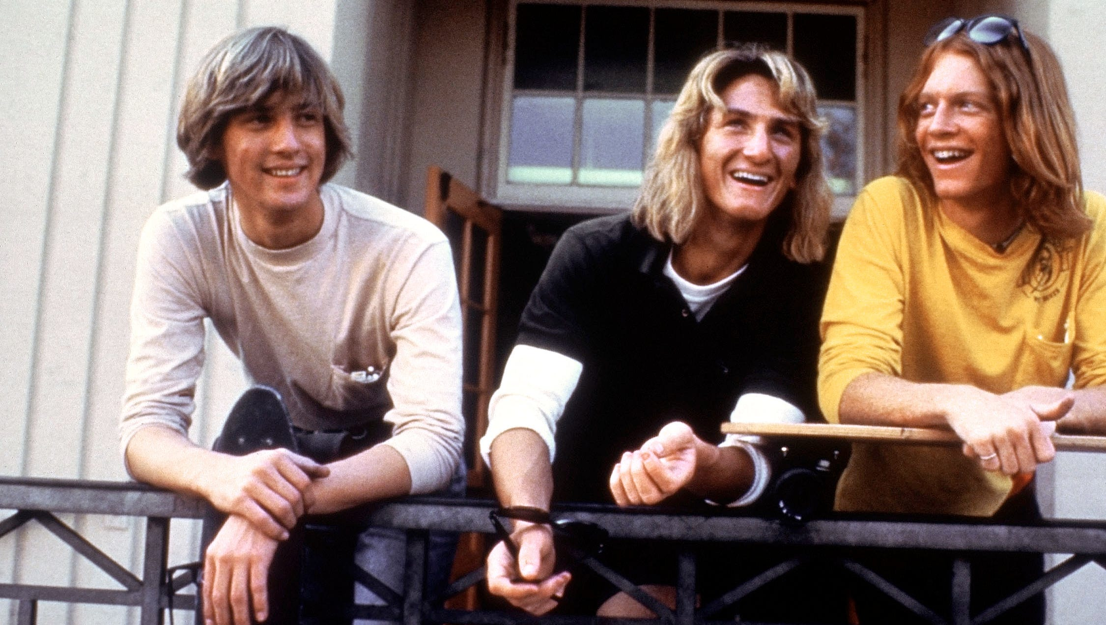 Before he was a serious actor, Sean Penn was stoner Jeff Spicoli in 1982's 'Fast Times at Ridgement High, along with Anthony Edwards, left and Eric Stotlz.