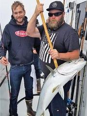 Matthew Whitherspoon of Ojai caught a 27-pound yellowtail aboard the New Hustler.