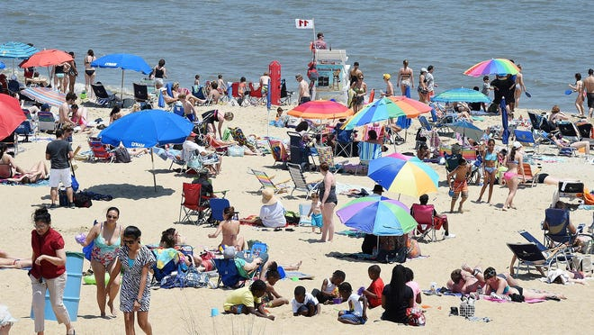 Crowds have come to the beach as Memorial Day Weekend which starts the Summer Season has started in Rehoboth Beach on Saturday May 28.