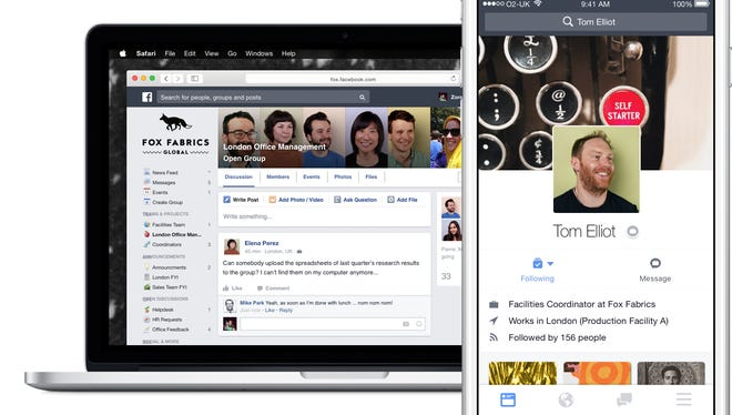 Facebook at Work will have its commercial launch next month.