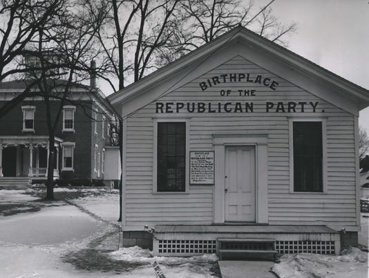 1966 Press Photo Birthplace of the Republican Party, Ripon, Wisconsin