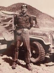 Dave Wilson as a military police officer with the 25th Infantry Division in Korean in 1953. Wilson and his wife, Judy Wilson, have archived the names of those who served in the MP company for the 25th Infantry Division.