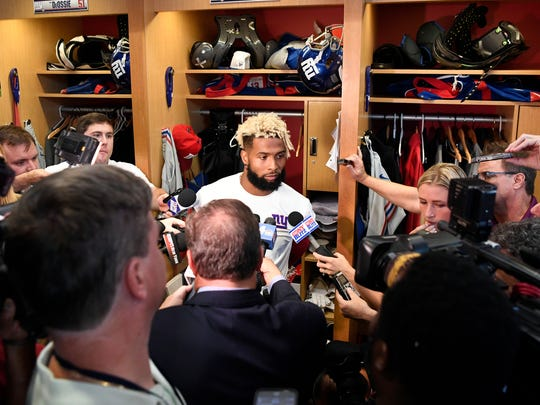 New York Giants wide receiver Odell Beckham Jr. answers