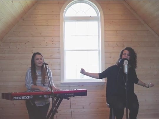 """Twin sisters Kristen (left) and Kellie Fuselier of Alexandria are set to release a CD of music they created for their church, The Gathering Place. on Jan. 15. Together with The Bridge 104.9 they also are hosting a release party and concert for the album called """"We Receive"""" on Jan. 22 at the Coughlin-Saunders Performing Arts Center."""