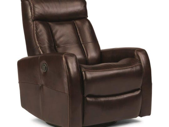 Flexsteel has introduced a new recliner that pivots, reclines and is cordless.