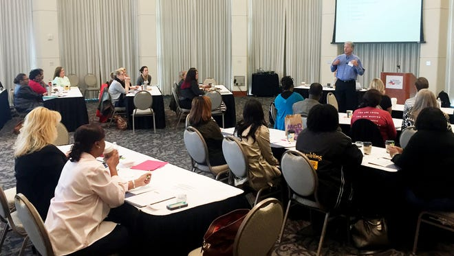 On Thursday, about 40 child service providers gathered at the Shreveport Convention center to learn about trauma-focused cognitive behavior therapy
