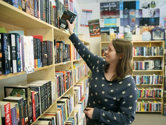 Kate Larson, store manager at Liberty Bay Books in