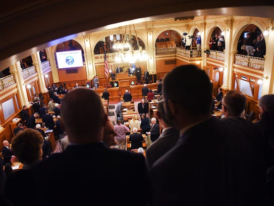 Governor Dennis Daugaard holds the annual budget address