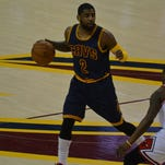 Veteran Cavaliers have given younger players, like Kyrie Irving (pictured), advice on how to handle the postseason.