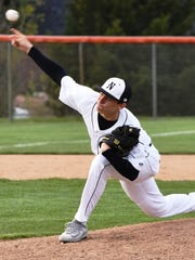 Northville's Jon Michalak pitched a complete game shutout in Game 2 against Novi.