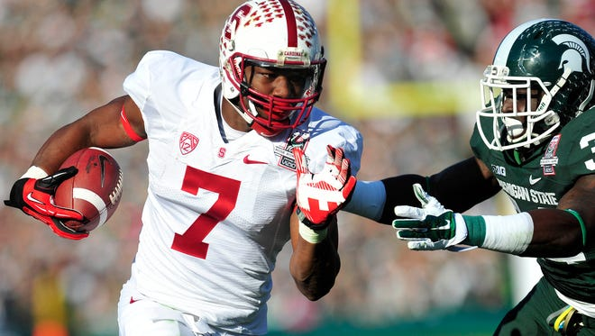 Wide receiver Ty Montgomery (7) is one of a number of Cardinal players who can help Stanford improve on its red-zone performance in 2014.