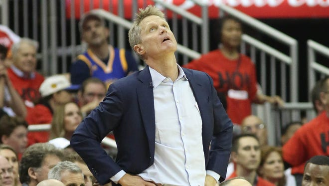 Steve Kerr and the Warriors head home tied 1-1 in the Western Conference finals.
