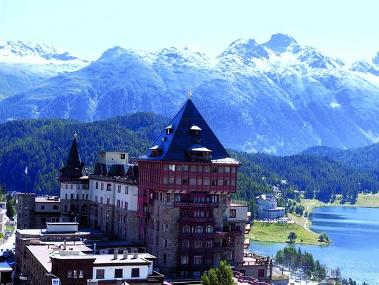 A postcard of San Moritz, Switzerland, in the Billy