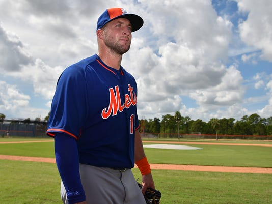 Minor League Baseball: New York Mets-Tim Tebow workout