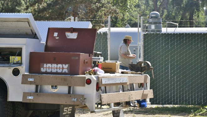 Maintenance staff flushed Cutler Park's water system with chlorine after the water tested unsafe to drink. The park was closed on Thursday while park staff tried to fix the problem.