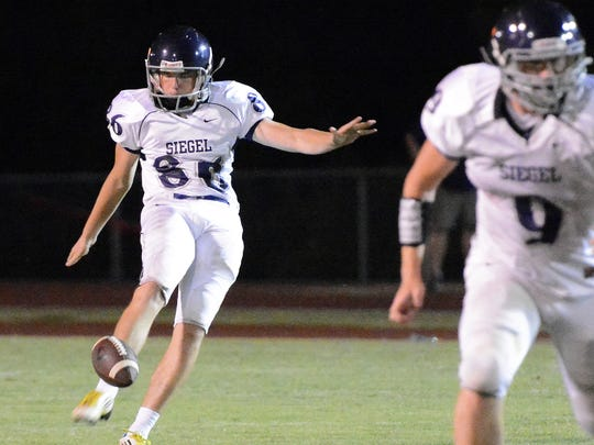 Siegel's Jacob Smith replaces Harrison Reed as the Stars' placekicker.