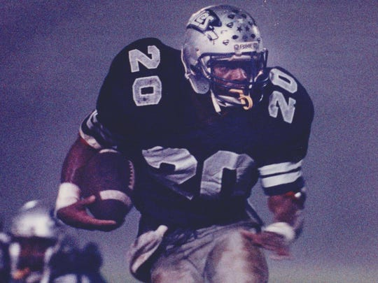 Middletown South running back Stephen Pitts in action during the 1989 season.