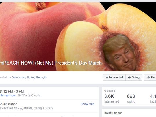 An image from the ImPEACH NOW! Facebook page, which