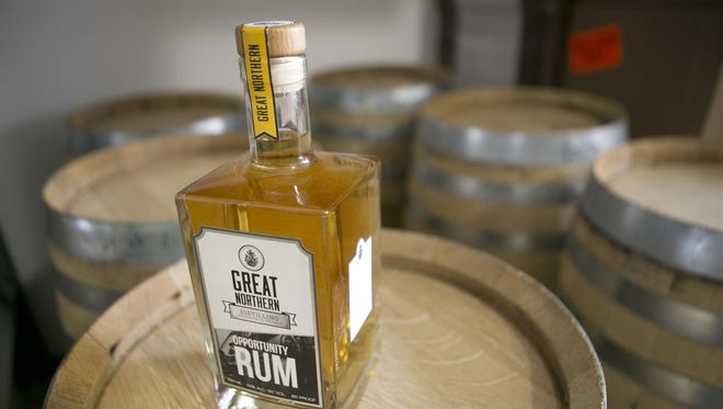 Opportunity Rum on display at Great Northern Distilling in Plover.