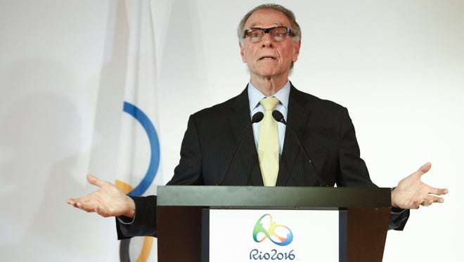 This file photo taken on June 16, 2016 shows the president of the Brazilian Olympic Committee Carlos Arthur Nuzman in Santos, on June, 16, 2016.   Carlos Nuzman was arrested on October 5, 2017 as part of a probe into alleged buying of votes to secure Rio's hosting of the 2016 Games.