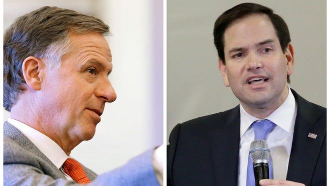 Tennessee Governor Bill Haslam and Florida Senator Marco Rubio