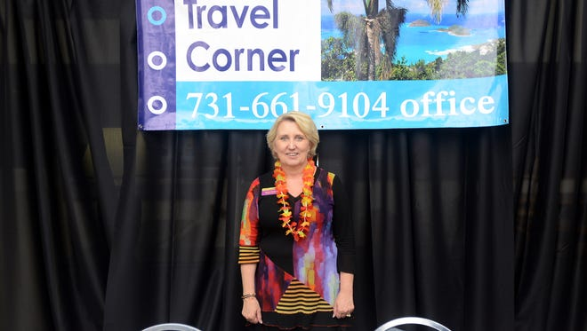 Ronda Richards of Ronda's Travel Corner co-sponsored a Travel and Vacation Show in this 2014 file photo. Richards pleaded guilty to wire fraud Monday.