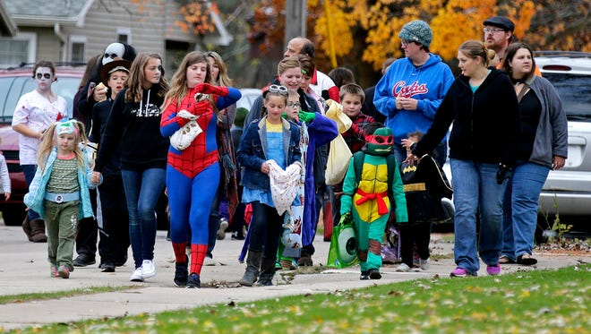 Local communities set trick or treat hours.