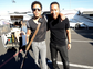 Lenny Kravitz and John Legend pose for a photo before